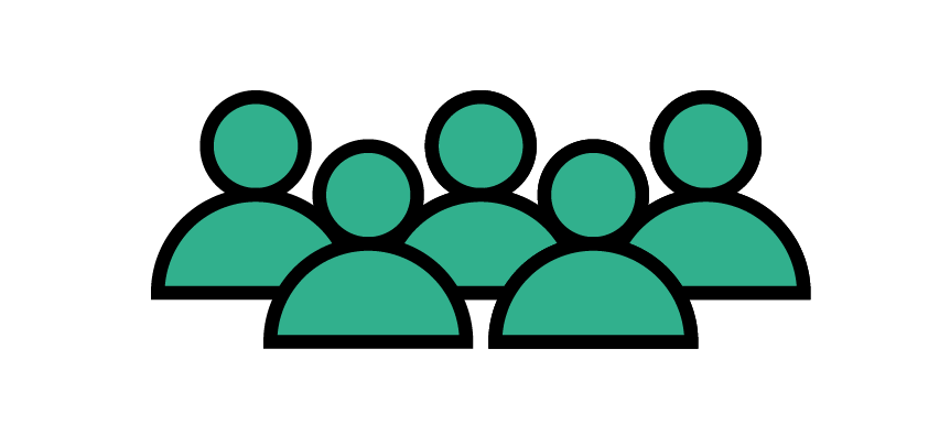 Icon depicting group of people.